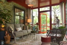 Tunic Inspired rooms / I just love the Boho ease of tunics. Katie Couric and Halle Berry are sporting Sulu Grant's designs these days. How could we translate this look to a room --say a porch?