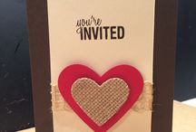 MY STAMPIN UP INVITATION CARDS / My Stampin Up invitation cards! / by Barbara Charles