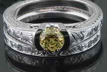 Fancy color diamond rings