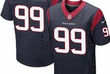 J.J. Watt Nike Jersey – Authentic Elite Texans #99 Blue White Jersey
