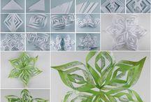 Paper SnowFlakes/ paperiset lumihiutaleet