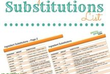 Baking Cooking Substition List