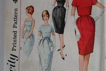 Vintage 60's Evening wear Cocktail Dresses and Gowns Sewing Patterns / There is nothing more elegant than a 60's cut cocktail dress or gown here are my top picks for you to make