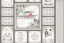 """Wedding Collection / Wedding Scrapbooking Paper, 12""""X12"""", Double Sided, Acid and Lignin Free, Designed and Printed in Australia www.featureart.net.au"""
