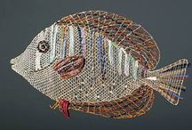 LACE птички-рыбки / коклюшечное кружево