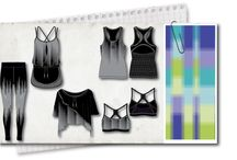 pixel collection / RE-VISION designed a complete Active wear collection for X by Gottex brand - USA market.