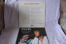 ELVIS Presley LP's For Sale / For serious fans only as the price will not be cheap. There are collectables, box sets, books included in the vinyl etc. Shows front and back of the records. The Legendary Performer ones have books inside them...Many not played and in pristine condition in EMI plastic covers.