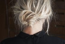 relaxed low buns