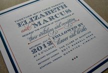 Typographic invite inspiration / Classic, contemporary, traditional... but all with a typographic twist.