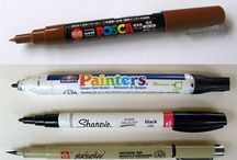 Suitable markers + pens for rock painting