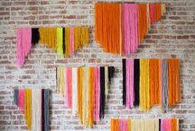 Yarn hangings