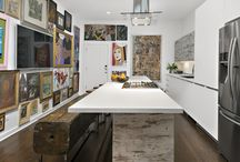 Rustic and Contemporary Kitchen / A Rustic and Artsy Contemporary Kitchen in Hyde Park