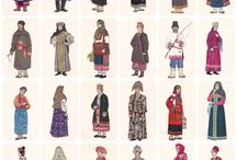 folk clothes from various countries