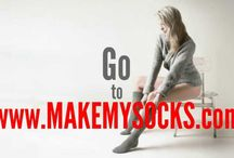 Custom Knee-High Socks / Pictures, videos and info about manufacturing customized knee-high socks brought  to you by custom socks manufacturer Make My Socks.