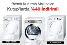 BOSCH KAMPANYALAR / #BOSCH Kurutma Makineleri #KUTUP'larda %40 İndirimli (WTE84101TR - WTY88740TR - WTW84360BY)