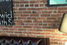 Brick Walls: Thin Brick Wall Veneer / Brick walls can greatly enhance most any room or space. Brick is a perfect consideration for both residential and commercial building new construction and remodels. We hope that interior and exterior designers, contractors, DIY and others will  find our gallery brick wall designs useful when creating your own wall designs.     #wall #tile #brick #thinbrick #brickwalls #homedecor #interiordecorating #brickveneers #pavers #bricktile
