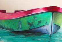 Tidewater Itch / Art by Kevin Lancaster on canvas pallet boards, paints,