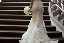 Backless Wedding Dresses / There's just something about revealing one's back that's undeniably sexy yet still alluring and elegant. We've put together a list of the most gorgeous backless wedding dresses we could find.