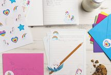 Stationery Bundles / Super sweet personalised stationery bundles embellished with the most cutest of characters your little loved one is sure to adore.  Our stationery bundles make the ideal gift for any child who just loves to write. Includes a notebook for jotting those all important thoughts and ideas down in, bookmark, gloss stickers, an embellished pencil and 6 sheets of writing paper & envelopes perfect for giving thanks, inviting friends over for tea or simply just to say hello!