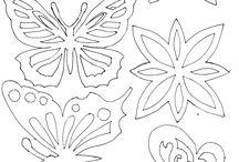 Kvety, motýle