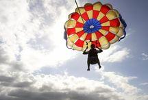 Flying, para, BASE, airplane