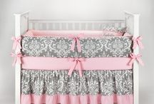 Pink and Grey Nursery Crib Bedding Sets for Less / Budget-friendly pink and grey (or gray) nursery bedding sets in all themes us moms--and dads, and grams--love!