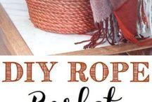 DIY rope bin
