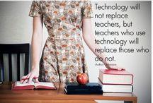 Teacher with Geeky Technology