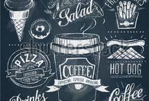 Tafelideen - Chalkboard / Hier findest du Ideen für das Lettering auf der Kreidetafel