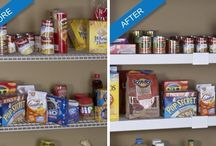 Kitchen Pantry Makeover / Make your kitchen pantry as beautiful as the rest of your home.  Help MyShelf™ is the fastest, easiest and most economical way to complete an amazing makeover of your wire shelves.
