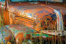 Old trucks/cars,and... / old pick-ups are beautiful, restored or metal art in the fields included in this passion, are vintage beauties, cars and motorcycles / by Dymoon aka Q
