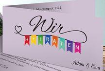 Hochzeitskarten und Co. / Viele Inspirationen zu Einladungskarten, Dankeskarten und allem, was für eine tolle Hochzeitspapeterie sorgt.