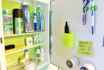 Medicine Cabinet Makeover / See how I used space saving products to maximize my bathroom medicine cabinet! Details on my blog! @ bemyguestwithdenise.com
