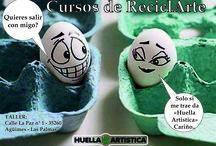Cursos Huella Artistica. / Cursos para niños y adultos, taller Huella Artística, Calle La Paz nº1 - AGÜIMES - Gran Canaria . Abierto al publico.