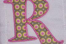 machine embroidery...Alpabeth