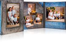 Wedding Albums / Photos of a variety of wedding albums carried by Myles Studio Photography.