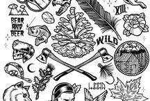 Блестящие татуировки