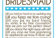 Bridesmaids and Groomsmen / bits and bobs for maids and men