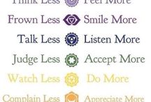 Words of wisdom / chakras and motivational quotes