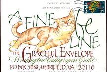 Cartas y sobres (envelopes art)