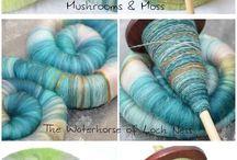mushroom and moss / Wool
