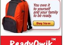 Emergency Ready Qwik Survival Kits / Ready Qwik survival Bags. For when you need to grab and go in a natural disaster or emergency situation and survival is something you have prepared for ahead of time.