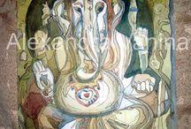 Ганеша Ganesha Ganapati / мои Ганеши, все образы, что я когда-либо писала или напишу!