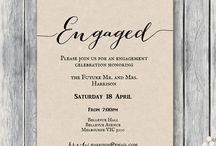 Engagement Party Printable / Engagement Party Printable, Engagement Party Invitations