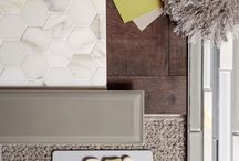 Home Decor Palettes / FLOOR360 professional interior designers used their talents to arrange a palette of products including wood, tile, carpet in a variety of textures and colors to give you home decor inspiration