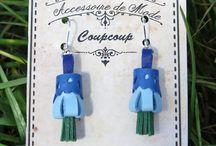 bijoux plumes Coupcoup / univers plumes glanées , parure angélique , les Ear-cuffs Coupcoup seront parfaitement embellir votre tenue de festival, mariage et sortie