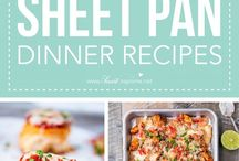 Easy One Dish and Sheet pan Meals / All about recipes that are easy one dish, one pot, or sheet pan meals.  If you would like to contribute to this board please follow me and then send me a message with your pinterest email.