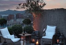 terraces and outdoors