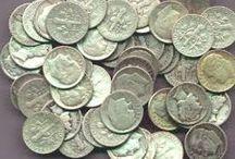 Silver coins at A-Precious Metals