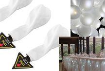 ballons led + guirlande  led decoration table  salle mariage,anniversaire,jour de l an ,noel